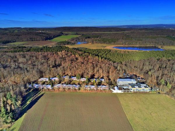 Das Vogelsbergdorf aus der Luft betrachtet